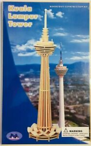 3D Wooden Puzzle Kuala Lumpur Tower Woodcraft Construction Kit 3D Puzzle Sealed