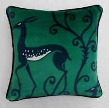 """Zoffany Fabric Cushion Cover 'DECO DEER VELVET - MALACHITE' - 18"""" -  VELVET"""