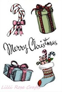 Clear Rubber Stamps - Merry Christmas - Gifts - 1231 - Cardmaking - NEW