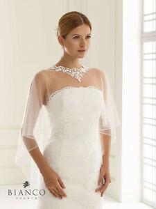 Brautstola Cape Poncho mit Spitze ivory Accessoire Hochzeit exklusiv Markenware