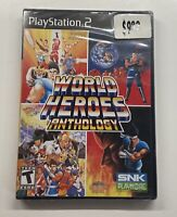 Playstation 2 World Heroes Anthology SNK Playmore PS2 BRAND NEW SEALED!!