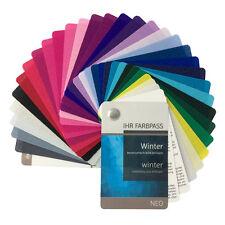 """Stoff-Farbpass, 30 Farben, Winter """"Neo"""" zur Farbberatung - Farbfächer Wintertyp"""