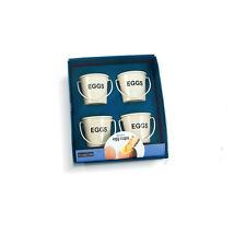 Eddingtons Bucket Egg cups. Set of four.Metal cup. Kitchen Serve. Various