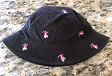 Lands' End Toddler Hat~Brown Corduroy with Pink Ballet Slippers-Small