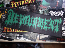 Devourment Back Patch Strip Backpatch Death Metal Guttural Secrete
