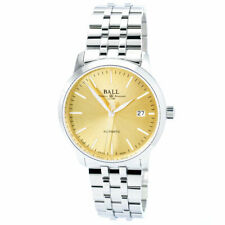 Ball NM2030D-SJ-GO Men's Trainmaster Legend Gold Tone Dial Watch