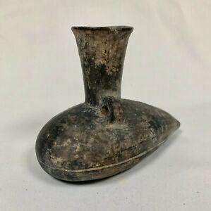 Selten Vase Funerary Präkolumbianischen Inka (Peru ) aus Terrakotta Grau