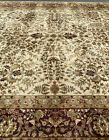 Fine Quality New Floral Oriental Rug Handmade in India,Antique-Look,Natural Dyes