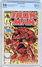 Iron Man  #238  CBCS   9.8  NMMT  Off white to white pages  1/89 Rhino cvr App.