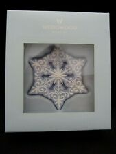 Wedgwood Pierced Snowflake Ornament - Made in Thailand