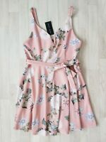 BNWT New Look Size 14 Pink Floral Summer Dress Wedding Guest £24.99