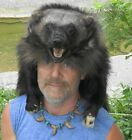 Wolverine fur hats * hide  wolf fox beaver muskrat skunk hats black powder
