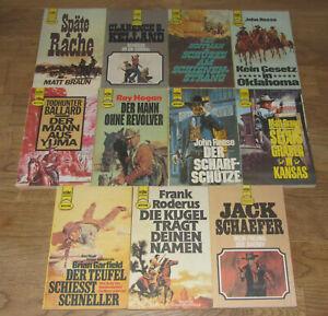 11 Heyne Western Taschenbücher aus den 1970er und 1980er Jahren
