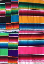 Mexican Sarape Serape Shawl Table Runner Small Blanket Rainbow 140x60cm Yoga DL
