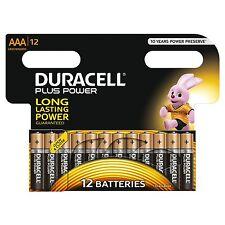 DURACELL MN2400 PLUS POWER ALCALINE AAA Lr3 Lr03 batterie di dimensioni (Pacco da 12)