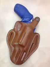 "Leather PANCAKE Holster - TAURUS JUDGE 3"" bbl Steel Frame (# 8035 BRN)"