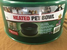 Farm Innovators P-60 1-1/2 Gallon 60W Green Heated Pet Water Bowl