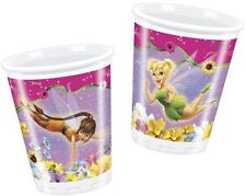 Tinkerbell Fairies Springtime 200ml Plastic Cups 10pk - Birthday Party Tableware