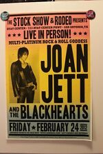 JOAN JETT & The BLACKHEARTS San Antonio TX (2012) CONCERT POSTER the runaways