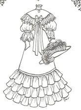 "Sewing Pattern doll size 27-28""  Dress hat French Fashion Lady Grace 888"