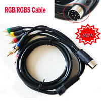 RGB/RGBS Composite Cable Cord Replacement For Sega Mega Drive Genesis 1 Console