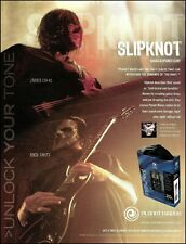 Slipknot Mick Thomson Jim Root Planet Waves guitar cables 8 x 11 ad print