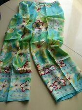 Pantalon d'Été Femme - Crêpe de Viscose à Splendide Imprimé Stylisé T. 44 / NEUF