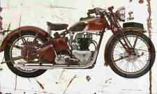Triumph SpeedTwin 1939 Aged Vintage SIGN A4 Retro
