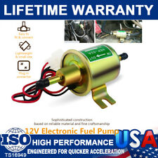 New Universal Inline Fuel Pump Gold 12V Electric Low Pressure Gas Diesel HEP-02A