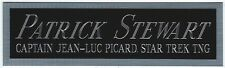 PATRICK STEWART STAR TREK TNG NAMEPLATE FOR AUTOGRAPHED Signed BOOK-PHOTO