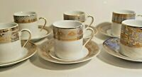 Formalities 10K Gold Set of 6 Demitasse Cups and Saucers by Baum Brothers Import