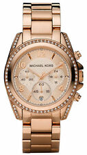 Michael Kors Blair Ladies Watch MK5263 Chronograph PVD Rose Plated Crystal Pave