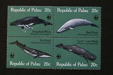PALAU 1983 WWF WHALES SET MNH