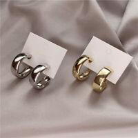 Details about  /2021 Fashion Geometric Metal Stud Hoop Dangle Drop Earrings Women Party Jewelry