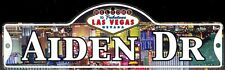 AIDEN DR - Welcome To Fabulous Las Vegas Street Sign (Laminated Plastic)