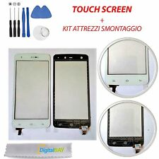 TOUCH SCREEN VETRO GLASS BIANCO DISPLAY SCHERMO PER NGM FORWARD ZERO + KIT