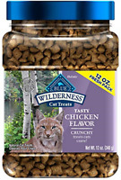 Wilderness Chicken Grain Free Crunchy Cat Treats 12-Oz Bag Natural and Healthy