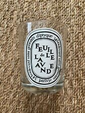 EMPTY Diptyque Feuille de Lavande Candle Jar Glass 6.5 oz