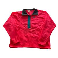 VTG 90s Nike Gray Tag Pink Swoosh 1/4 Zip Windbreaker Track Jacket Men's XL
