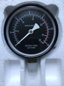 "Performance Tools 3/4""Pressure Gauge -4""- RAM Dia60m- Metric Tons W41063-1, New"