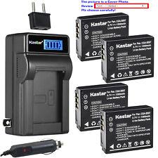 Kastar Battery LCD AC Charger for CGA-S007 S007 Panasonic LUMIX DMC-TZ3S Camera