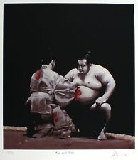 Charles Willmott chamarré awards ken-sho sumo wrestling signé! taille: 64cm x 59cm