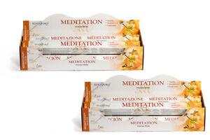 Stamford Premium Meditation Hex Incense Stick 12 Pack - Total 240 Stick