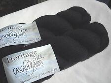 Cascade Heritage Silk Knitting Yarn, S'wash Merino/Mulberry Silk, 100g x 400m