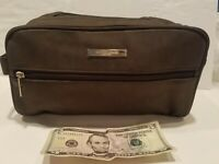 Giorgio Armani Large Blackish Brown Toiletry Bag