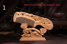 Hot Sale Handicraft Wooden Round Handle Sandal Hair Combs Natural Wood Fine Comb