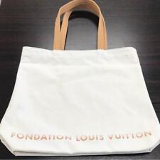 Fondation Louis Vuitton Paris Limited Tote Bag White Cotton
