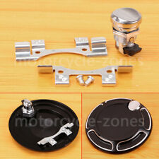 Chrome Push Button Fuel Door Latch Fit For Harley Touring Street Glide 1992-2016