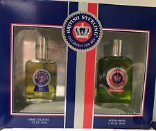 British Sterling Gift Set Spray Cologne 1 fl oz 30 ml, After Shave 2 60 ml