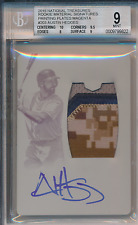 2015 National Treasure Material Printing Plate 1/1 Austin Hedges BGS 9 10 Auto